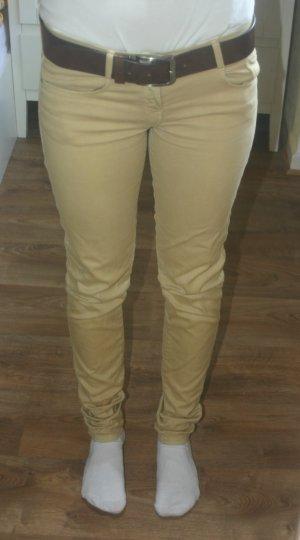 Zara Tarafluc Röhren-Jeans beige Slim Gr.36 L34 Hose TRF sexy