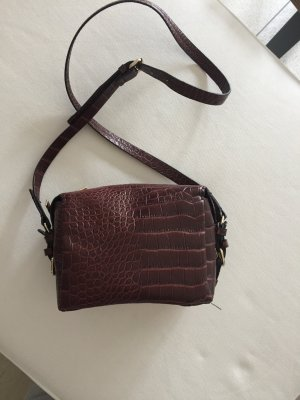 Zara Handbag dark brown-brown red