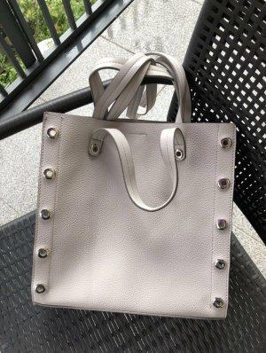 Zara Borsa shopper grigio-grigio chiaro