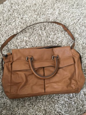 Zara College Bag cognac-coloured