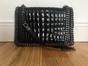 Zara Crossbody bag black-silver-colored