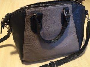 Zara Tasche in grau/schwarz