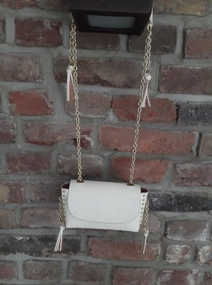 Zara Tasche Minibag Off White -  wie NEU - Nieten/ Fransen
