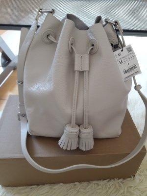 Zara Pouch Bag cream imitation leather