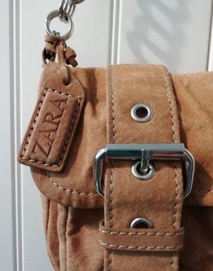 Zara Sac porté épaule marron clair daim