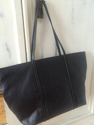 Zara tasche shopper schwarz