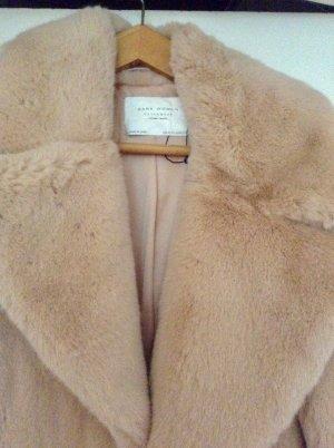Zara Manteau de fourrure multicolore