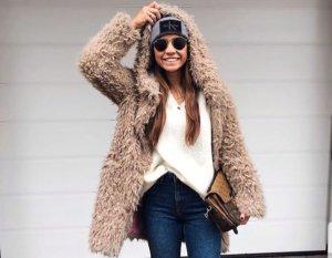 Zara Giacca lunga marrone