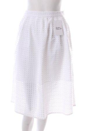 Zara Gonna circolare bianco stile classico