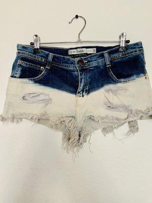 Zara Short en jean bleu-blanc