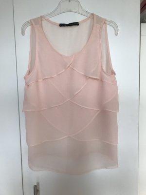 Zara Woman Blouse Top pink