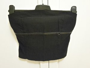 Zara Bandeau top zwart Rayon