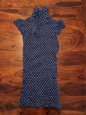 Zara Top blau weiß gepunktet Größe S