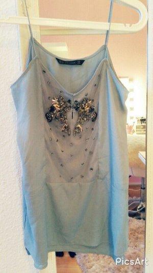 Zara Top Bluse Blau Sommer