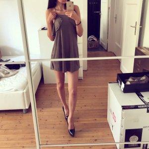 Zara Top Camisole Faux Leder Suede Volants Bluse Rüschen