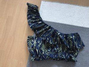 Zara Top blu scuro-verde