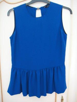 Zara Haut à basque bleu