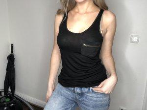 Zara Top in schwarz, Gr. XS, NEU