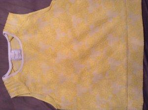 Zara-Top in sonnigem Gelb, filigranes Rosenmuster***