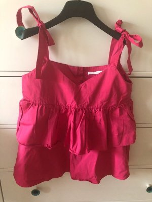 Zara Top M 38 pink neu Volant