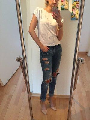 Zara Top mit Schulterdetail