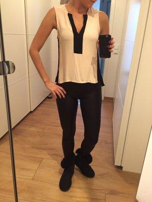 Zara Top Oberteil Bluse XS rosa schwarz