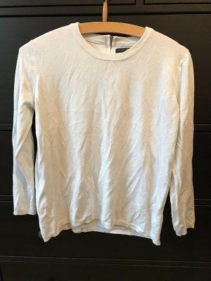 ZARA Top Pullover 38 weiß mit Reißverschluss