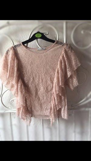 Zara top rosa neu spitze
