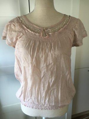 Zara Blouse à manches courtes vieux rose-mauve