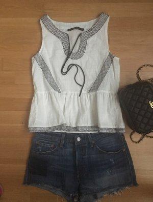 Zara Top, schwarz weiß