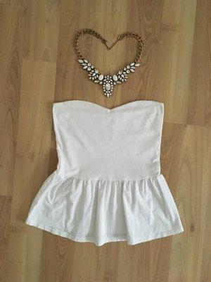 Zara Hauts épaule nues blanc-blanc cassé coton