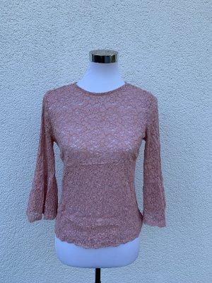 Zara Top Spitze Gr S 34 36 rosa