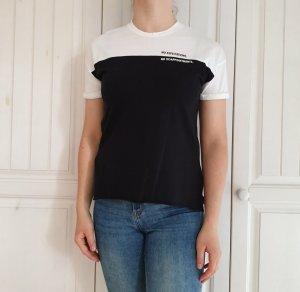 Zara Top T-Shirt S TShirt shirt weiß Schwarz oberteil Bluse Hemd tanktop croptop pulli pullover