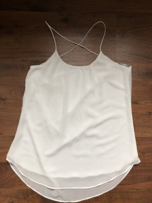 Zara Top schiena coperta bianco