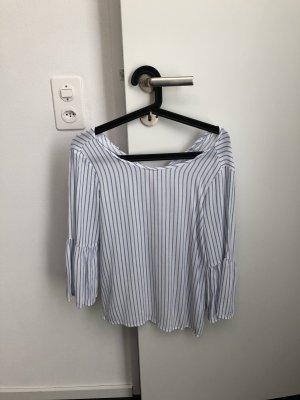 Zara Blusa beige chiaro-azzurro