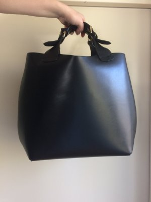 ZARA Tote Bag | Shopper-Tasche geflochten | Olivia Palermo Leder Tasche