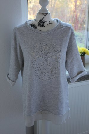 Zara Pull gris clair-gris