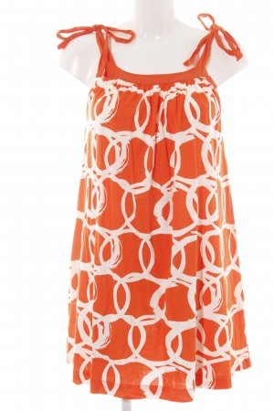 Zara Trägerkleid hellorange-weiß Allover-Druck schlichter Stil