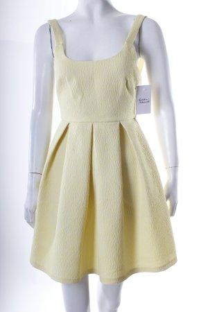 Zara Trägerkleid blassgelb-weiß Animalmuster