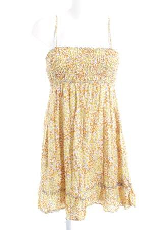Zara Vestido tipo overol estampado floral Estilo playero