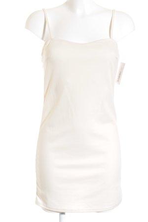 Zara Vestido tipo overol crema look casual