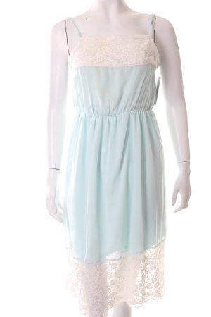 Zara Trägerkleid hellblau-weiß klassischer Stil