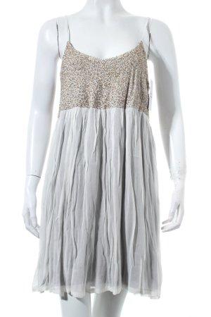Zara Trägerkleid schwarz-weiß Boho-Look