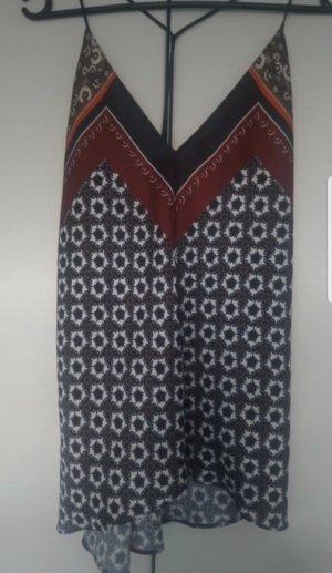 Zara Woman Haut à fines bretelles noir-gris
