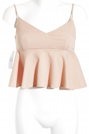 Zara Trägertop roségoldfarben Webmuster Paris-Look