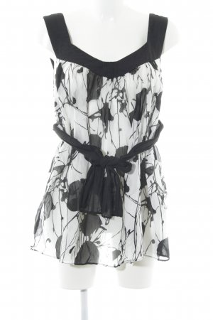 Zara Strappy Top black-white elegant