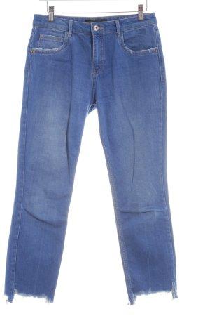 Zara Trafaluc 3/4-jeans blauw casual uitstraling