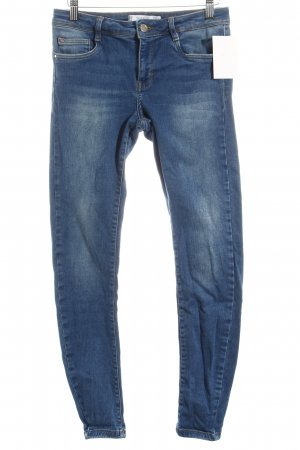 Zara Trafaluc 7/8 Jeans blau Washed-Optik
