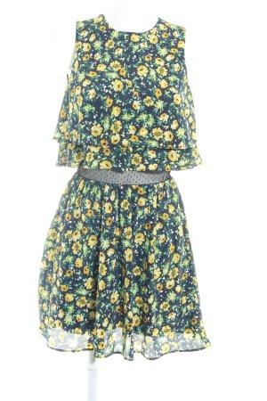 Zara Trafaluc A-Linien Kleid Allover-Druck Elegant