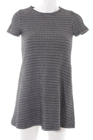 Zara Trafaluc A-Linien Kleid schwarz-weiß abstraktes Muster Casual-Look
